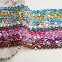 Wholesale Round Spectrolite Crystal Glass Loose Bead DIY Jewelry Making 6-12mm