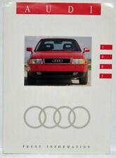 1993 Audi Press Kit - 90 100 S4 Quattro