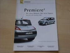 52161) Renault Megane + Espace JK Prospekt 2002