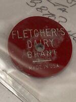 Token Fletchers Dairy Brant Quart Milk Red Dairy Token Coin Vintage Canada P3