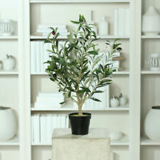 Artificiales de olivo con aceitunas en olla negro 60cm arte planta/- árbol