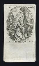 santino incisione 1600 S.BIAGIO V.M.  j.callot