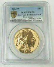 2013-W $50 GOLD BUFFALO REVERSE PROOF PCGS PR70 PF70 FIRST STRIKE FS 28104829
