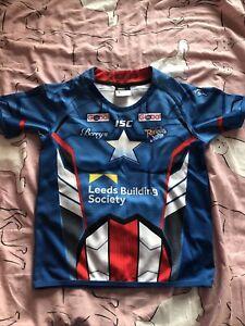 Junior Leeds Rhinos Shirt - marvel - captain America- Age 10