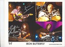 8 1/2 x 11 Glossy Photo Iron Butterfly Autograph {169}