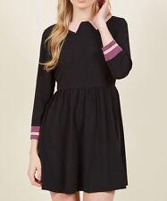 Trompe l'Oeil Loyalty Mini Dress Pink Lavendar Black