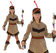 Childrens Indian Girl Fancy Dress Costume Pocahontas Wild West Kids Outfit L