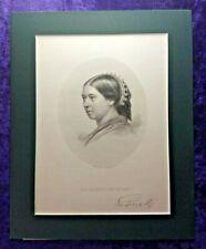 Antique Queen Victoria print with facsimile signature