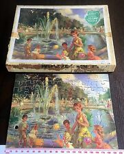 Vintage VICTORY WOODEN JIGSAW L139 FOUNTAIN KENSINGTON GARDENS P2 Popular Series