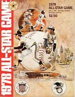 1978 (Jul.11) All-Star Game Baseball Program, San Diego Padres Stadium ~ VG