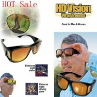 Night + Day Vision Wraparound Sunglasses, Yellow and Black, UV Protection,HD