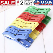Set of 8 Plastic Laundry Clothes Beach Towel Clips Hangers Spring Clamp Clip US