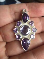 Silver Earrings Cluster Amethyst.925