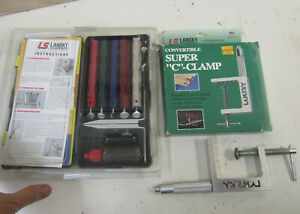 Lansky Knife Sharpening System w/5 stones + Lansky C Clamp; original packaging