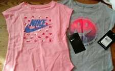Nike Girl's 2 Shirts Toddler 3T NEW Bright Melon & Heather Grey