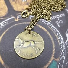 Lord of the Rings Rohan Brass Brumby Coin Pendant