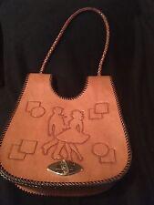 Western Leather Purse Square Dancers NOS Shoulder Vintage Hand tooled WP1