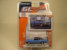 GREENLIGHT COLLECTIBLES DIECAST METAL 1:64 SCALE BLUE 1968 CHEVROLET CHEVELLE SS
