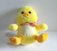 Chick Soft Toy Plush - Yellow & Orange with Check Orange Ribbon - Keel Toys