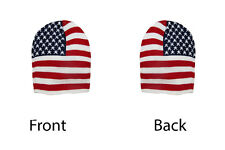 """8"""" U.S.A. USA American Flag Snow Cap Beanie Skull Cap"""