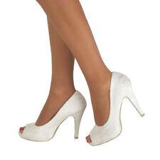 Stiletto Satin Standard Width (B) Formal Heels for Women