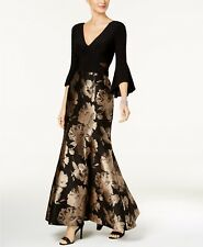 XSCAPE Petite Flare-Sleeve Mermaid Gown MSRP $269 Size 6P # 7А 444 NEW