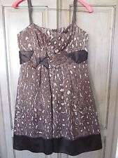 BCBG Max Azria Wool/Silk Leopard Print Sand Combo Strapless Dress Size 6 EUC