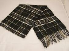 Black Grey super soft plaid softer than cashmere fringe scarf