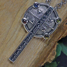 Peter Stone astrologisches Kreuz Anhänger 4 Elemente 925 Silber Astrologie