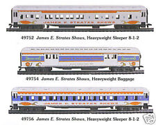 Ho Strates Shows Circus Sleeper Pass 49752 + 2 Cars