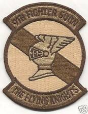 9th FIGHTER SQUADRON desert patch