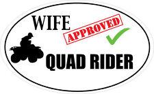 Esposa aprobado Quad Rider pegatina de vinilo-Quad Bike temática Pegatina -48 cm X 9 Cm