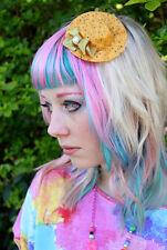 Chapeau mini peu moutarde cheveux clip à pois-pastel scène gothic lolita kawaii