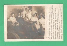 1915 RPPC POSTCARD GORDON FAMILY TRAPEZISTS ANTIQUE AUTO GENTS DAUGHTERS COUSINS
