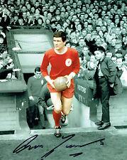 Ron YEATS Signed Autograph Liverpool 10x8 Photo A AFTAL COA