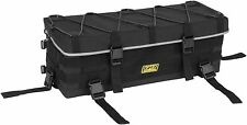 Universal ATV Front or Rear Rack Bag Reflective Black 27x10x9 by Quadboss