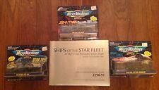 STAR TREK - (3) MICRO MACHINES 3 VEHICLE PACKS - GALOOB - 1993  NEW