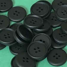 10 x 19mm Black Buttons #1488