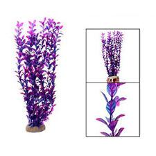 18 Inch Purple Plastic Fish Tank Plant Aquarium Grass Decor Ornament LW
