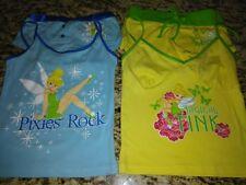 Disney tinker Bell two pajama sets girls M