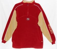 SAN FRANCISCO 49ERS NFL Men's Red Gold 1/2 Zip Fleece Jacket Size Medium