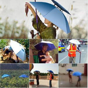 Fishing Cap Foldable Umbrella Hat Head Umbrella Outdoor Fishing Camping Headwear