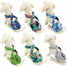 Dog BELLY BAND Wrap Diaper Male Reusable SUSPENDERS Soft Fleece Small Medium Pet
