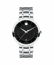 Movado 1881 Automatic 0606914 Black Dial Stainless Steel Mens Watch