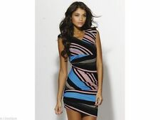 Party Wiggle, Pencil Striped Sleeveless Dresses for Women