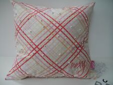 ROXY NORTH SHORE STRIPES & BEADS DECORATIVE PILLOW- PINK