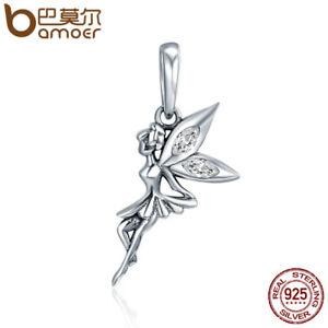 BAMOER .925 Sterling silver Charm Beautiful Elf Dangle & CZ Fit bracelet Jewelry