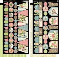 Graphic 45 G45 Botanical Tea Banners Stickers flowers Garden Friendship