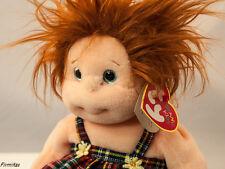 Ty Beanie Kids Babies Ginger Plush Redhead Girl Retired Tush Error Collector New