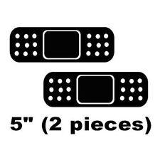 "(2) 5"" Black JDM BandAid Band-Aid Car Bumper Dent Scratch Cover Vinyl Sticker"